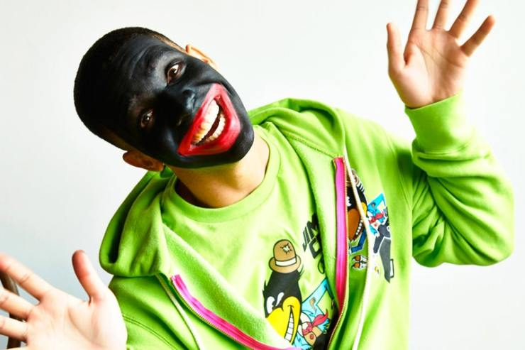 drake in black face